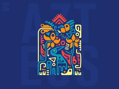 Aztecs Pattern flat illustration abstract art packaging aztecs pattern design vector illustration
