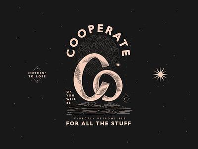 let's co design linework advice vintage type lettering typography mark icon symbol vector illustration