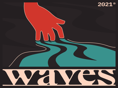 Waaaaves 🌊 graphic design abstract typography art vector illustration