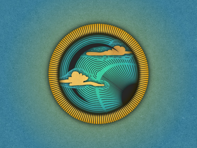 Gold and Blue mark icon symbol vector illustration