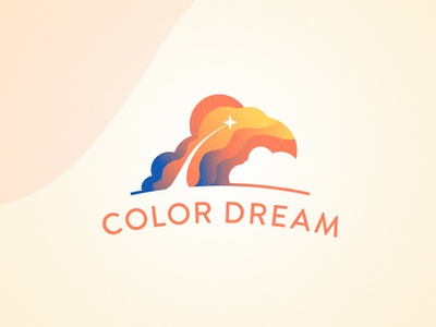 Color + dream mark icon symbol vector logo