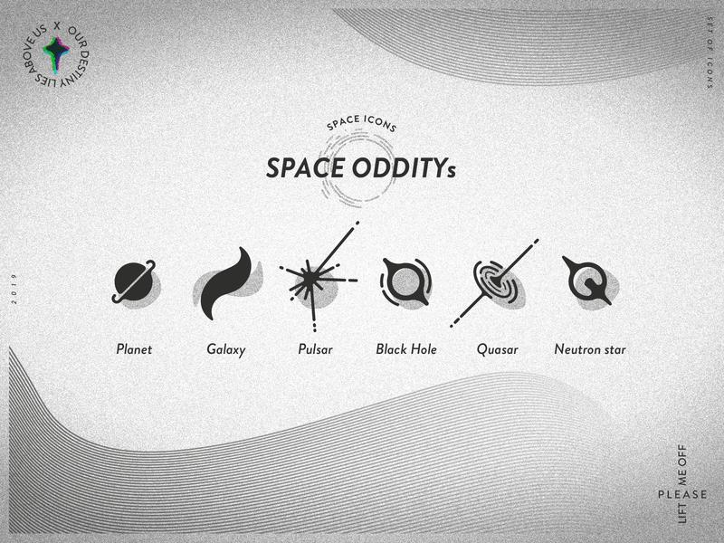 Space Oddity / Icons vector illustration pictogram typography illustrator mark icon symbol icon icon set
