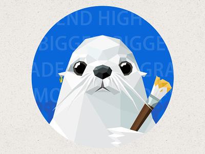 Designer sea lions icon ui the ocean,