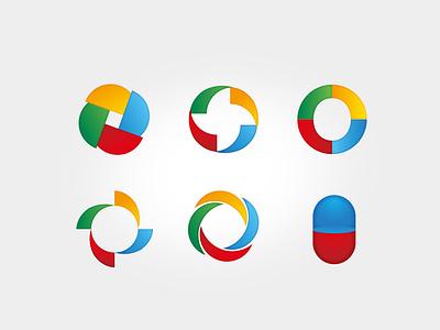 Image series windmill pills logo around