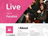 LIVE - Interactive Parallax - Responsive HTML5 Theme