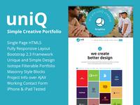 UniQ - Creative Portfolio Theme