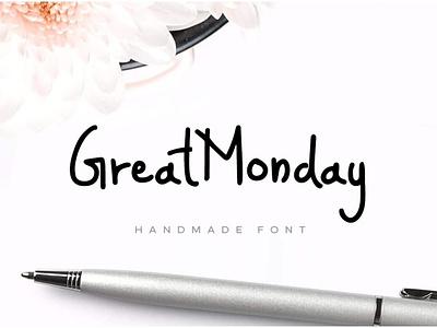 GreatMonday - Fresh Handmade Font handmade handwriting handwritten webfonts typography typeface. lettering typeface designer typeface design typefaces typeface type selling sell minimalist minimal font family font design fonts font designova