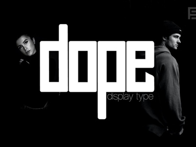 DOPE - Unique Display Typeface headline display font display webfonts typography typeface. lettering typeface designer typeface design typefaces typeface type selling sell minimalist minimal font family font design fonts font designova