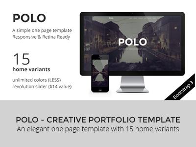 POLO - Simple & Elegant Responsive One Page HTML5 themeforest creative template designova one page portfolio parallax