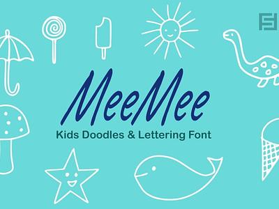 MeeMee Kids Doodles & Lettering Font webfonts typography typefaces typeface lettering typeface designer typeface design typeface type selling sell minimalist minimal fonts font family font design font designova