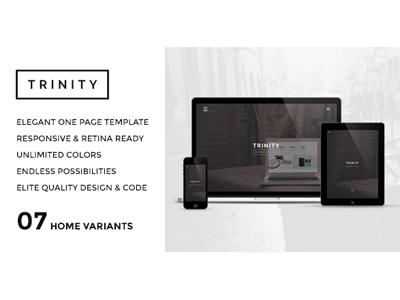 TRINITY - Elegant One Page Parallax Template themeforest creative template designova elegant one page portfolio parallax