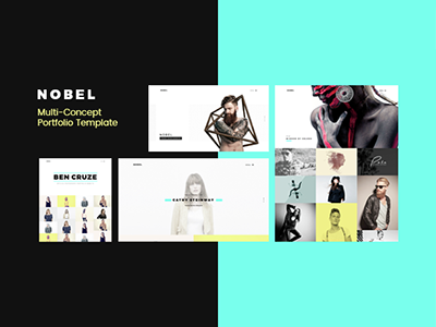 NOBEL - Minimal & Versatile Portfolio / Agency Template  portfolio photography minimal masonry grid freelancer fast loading easy to use designer business artist agency