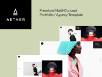 AETHER - Enjoyable Multi-Concept Portfolio / Agency Template