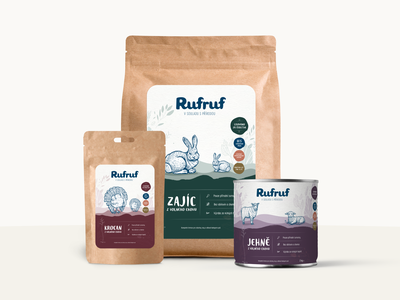Rufruf - Natural Packaging Design packaging design packaging logo brand natural vector illustration design branding