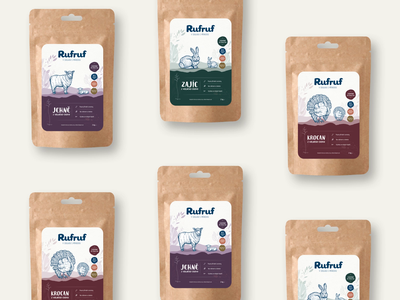 Rufruf - Natural Packaging Design food animation animal logo packaging design packaging clean vector illustration design branding