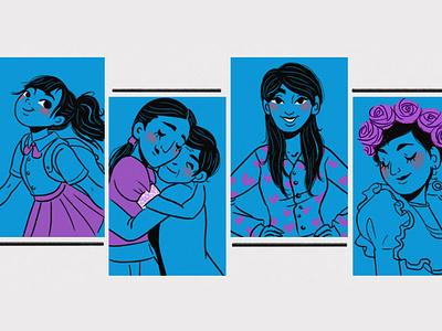 girls color palette characterdesign girl illustration photoshop digital 2d