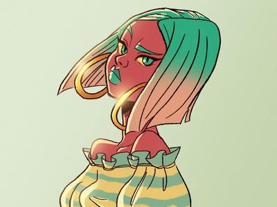 Chabe challenge color palette girl characterdesign photoshop illustration digital 2d
