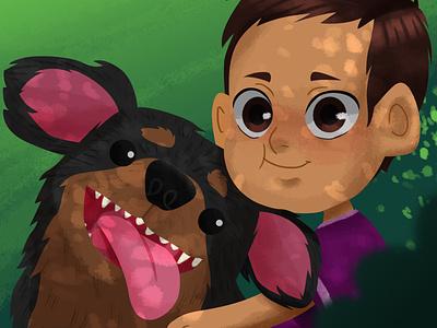 Friends characterdesign photoshop digital 2d illustration dog