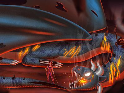 Dragon color palette design concept art characterdesign photoshop digital 2d illustration