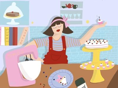 Baking time illustration.