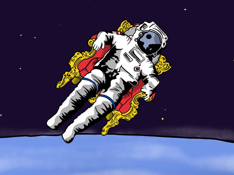 An Astronaut's Throne space