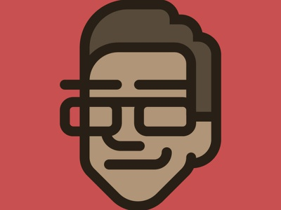 My New Avatar simple face logo avatar illustration design adobe illustrator