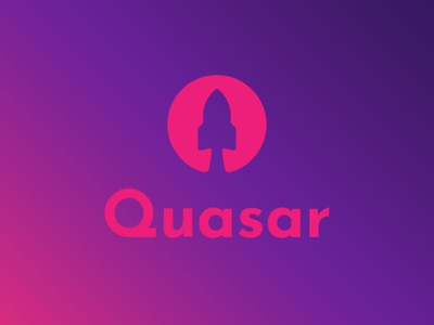 Daily Logo Challenge Day 1 logodesign brand quasar logo rocket logo rocketship rocket dlc quasar