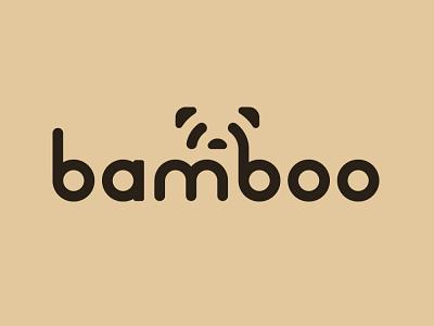 Daily Logo Challenge Day 3 (Panda) custom font dlc panda logo pandas bamboo logo log design panda bamboo