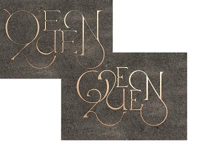 Q 00A miami branding type script custom type lettering queen