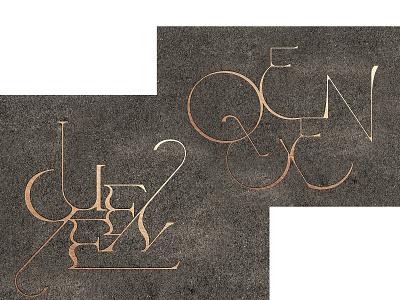 Q 00B hand drawn type custom branding illustration typography lettering