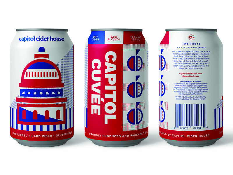 CCH 12oz geometric illustration apple america washington dc cidery branding brewery craft brew packaging cider