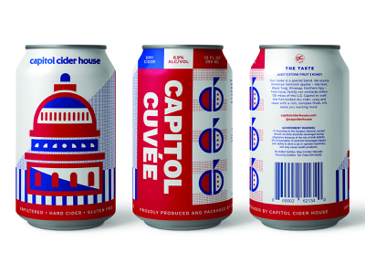 CCH 12oz geometric illustration apple america washington dc cidery branding brewery craft brew packaging cider