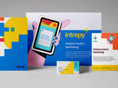 Intrepy identity system illustration medical bright marketing healthcare design branding