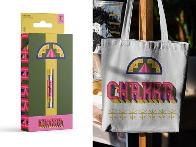 Chakra 01 logo modern lettering branding flat illustration geometric