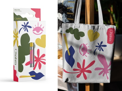 Chakra 02 flat packaging colorful organic shapes funky vape cannabis luxury
