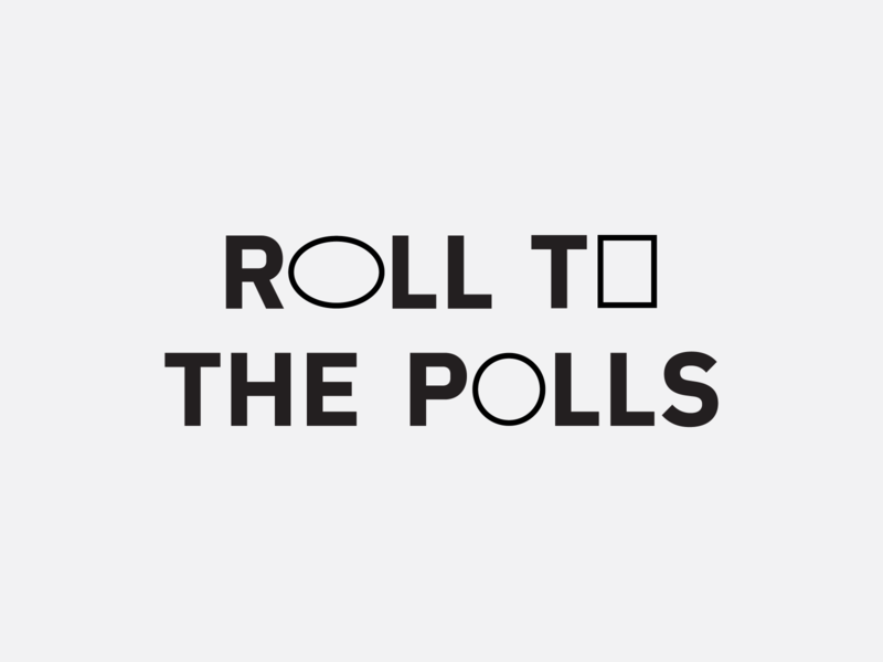 RTTP 2020 thicc type vote 2020 branding roll to the polls mobility bikes