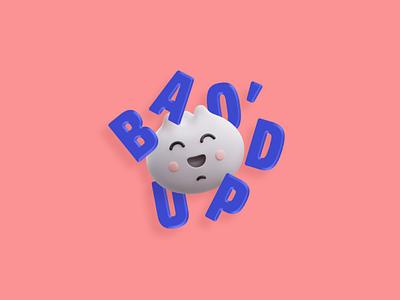 Bao Chiken Bao Bao eat your fillings resturant identity system design logo brand identity character mascot 3d branding
