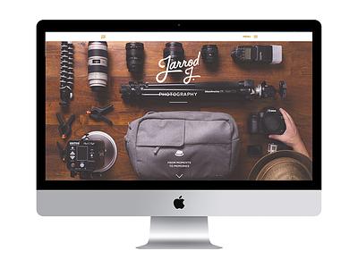 Jarrod J. Photography photography things organized neatly camera fedora responsive internetz ui ux