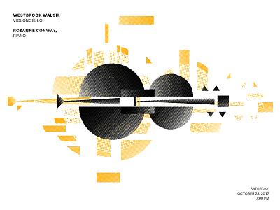 Mellow Cello explosion halftone energetic russian cello geometric