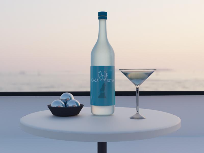 Wine branding wine 3d art design illustration