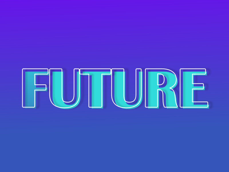 Future future typography vector flatdesign concept design design illustration