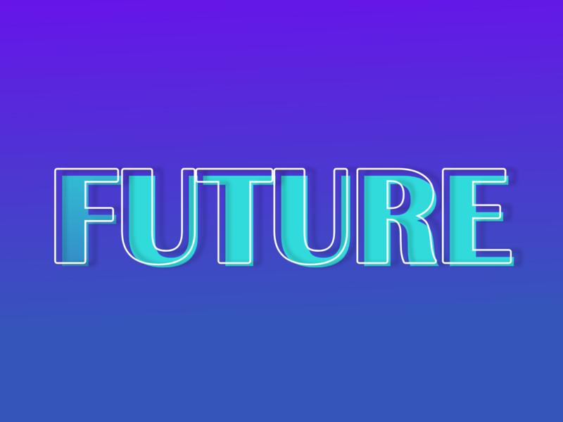 Future future typography vector flatdesign concept design design illustration