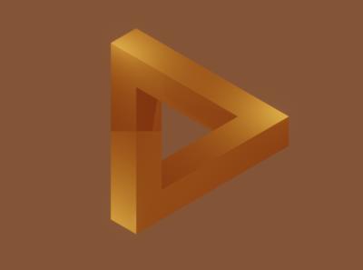 Imposible shape logo shape 3d art concept design design illustration