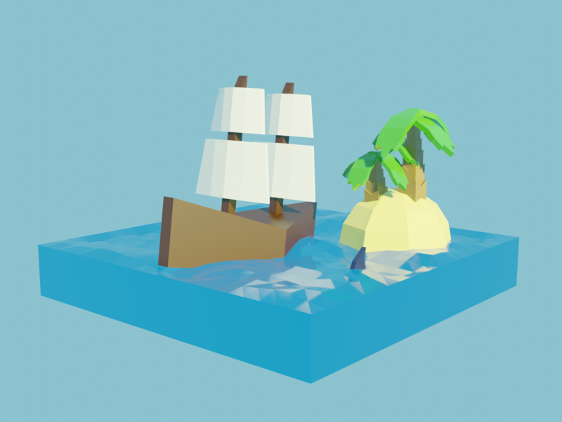 Low poly boat  remastered concept design water boat 3d art design illustration