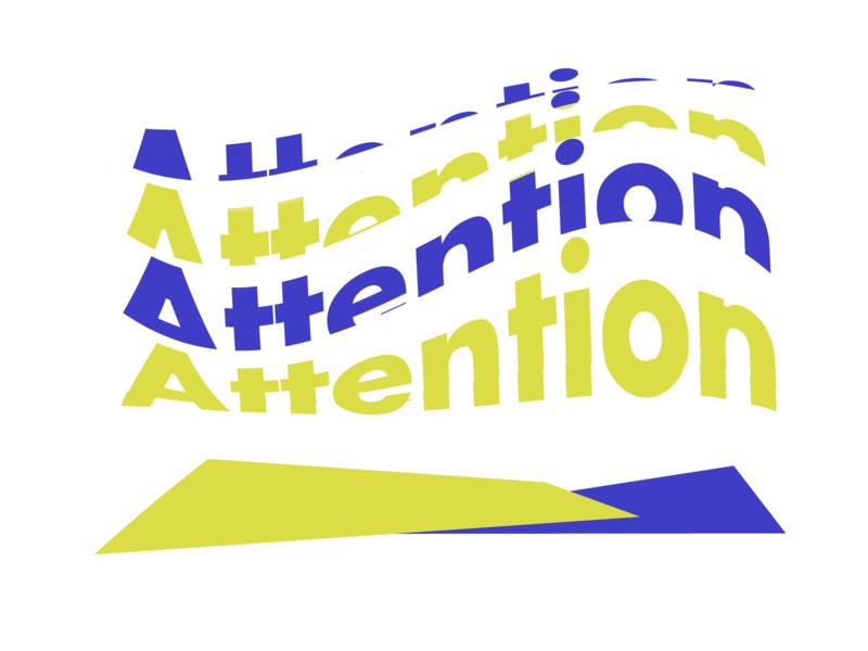 Wave attenion typography branding logo vector flatdesign concept design illustration design