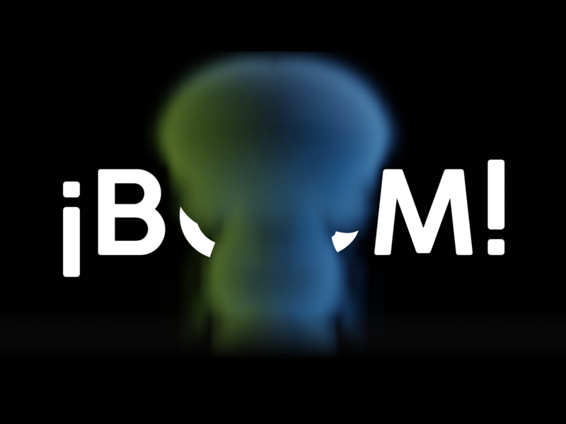 ¡Boom! boom logo vector flatdesign 3d art concept design illustration design