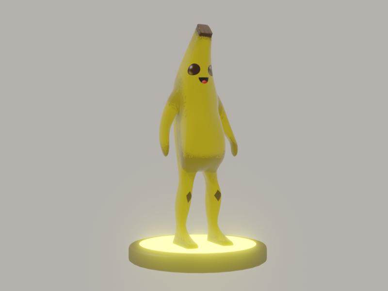 Pelly Fortnite skin 3D model banana pelly fortnite 3d art concept design illustration design