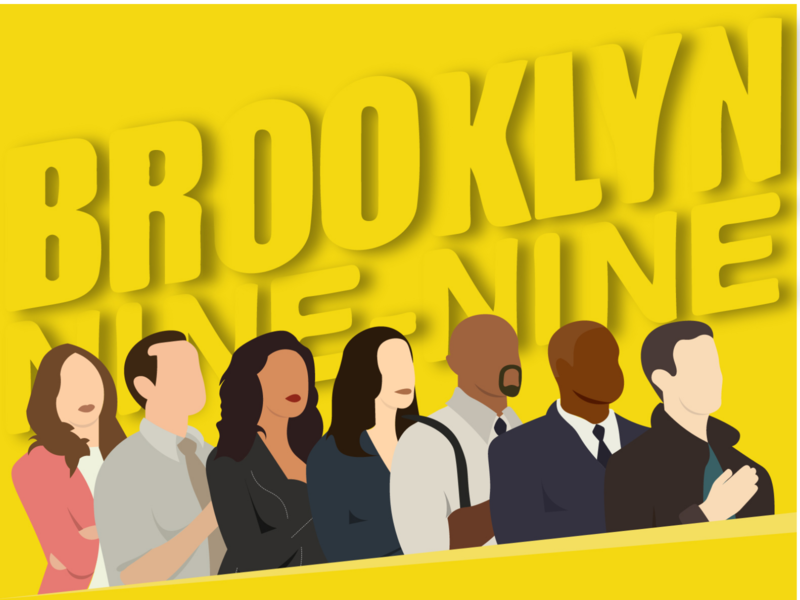 Brooklyn Nine-Nine brooklyn99 brooklyn flatdesign vector concept design illustration design