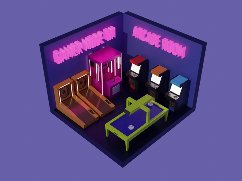 Arcade arcade 3d art concept design illustration design