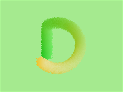 D  furry letter typography branding logo vector flatdesign 3d art concept design illustration design